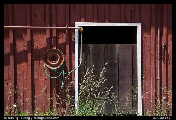 Barn door detail, Santa Rosa Island. Channel Islands National Park (color)