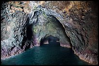 Inside Painted Cave, Santa Cruz Island. Channel Islands National Park ( color)