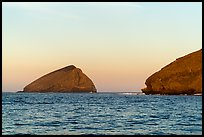 Sutil Island and Santa Barbara Island at sunrise. Channel Islands National Park ( color)