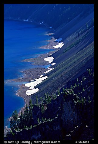 Crater walls and lake. Crater Lake National Park, Oregon, USA.