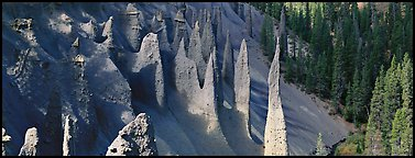 The Pinnacles. Crater Lake National Park (Panoramic color)