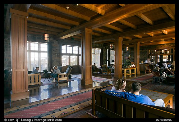 Main lobby of Crater Lake Lodge. Crater Lake National Park (color)