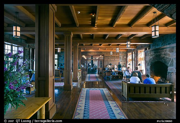 Inside Crater Lake Lodge. Crater Lake National Park (color)