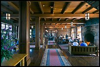 Inside Crater Lake Lodge. Crater Lake National Park, Oregon, USA. (color)