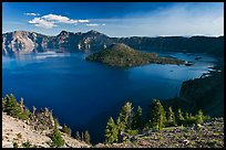 Wizard Island, Mount Scott, and Crater Lake. Crater Lake National Park ( color)