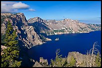 East rim view. Crater Lake National Park, Oregon, USA. (color)