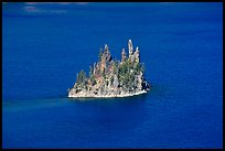 Phantom ship and blue waters. Crater Lake National Park, Oregon, USA.