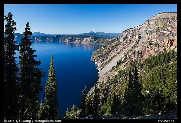 Cloudcap Bay and Pumice Castle. Crater Lake National Park (color)