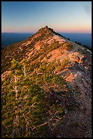Mount Scott summit and fire lookout at sunset. Crater Lake National Park ( color)