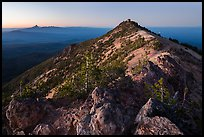 Mount Scott summit and fire lookout at dusk. Crater Lake National Park ( color)