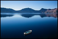 Tour boat and blue lake. Crater Lake National Park ( color)