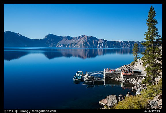 Boat dock, Cleetwood Cove. Crater Lake National Park (color)