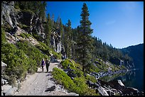 Hiking Cleetwood Cove trail. Crater Lake National Park ( color)