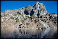 Llao Rock seen from the lake. Crater Lake National Park ( color)
