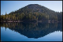 Wizard Island seen from water level. Crater Lake National Park ( color)