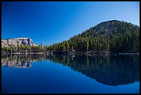 Reflections of Wizard Island and Llao Rock. Crater Lake National Park ( color)
