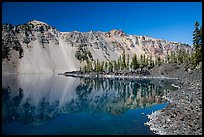 Watchman reflected in Fumarole Bay, Wizard Island. Crater Lake National Park ( color)