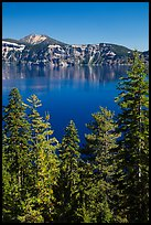 Hemlock, blue waters, and Mount Scott, Wizard Island. Crater Lake National Park ( color)