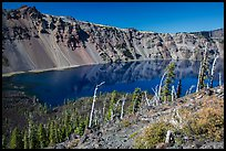 Skell Channel from top of Wizard Island cinder cone. Crater Lake National Park ( color)