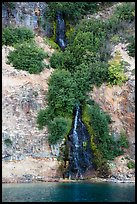 Waterfall running into lake. Crater Lake National Park ( color)