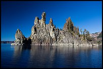 Phantom Ship seen from lake. Crater Lake National Park ( color)