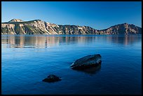 Rocks in lake, Cleetwood Cove. Crater Lake National Park ( color)
