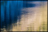 Golden and blue reflections, Cleetwood Cove. Crater Lake National Park ( color)