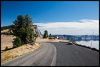 Road near North Junction. Crater Lake National Park ( color)