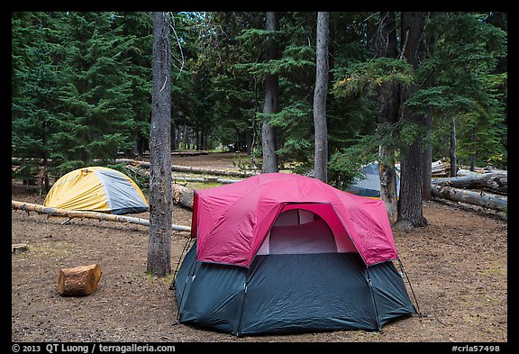 Mazama Village campground. Crater Lake National Park (color)