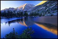 Reflections on lake at sunset. Kings Canyon National Park, California, USA. (color)
