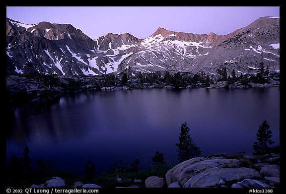 Woods Lake, sunset. Kings Canyon National Park (color)