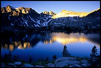 Woods Lake, sunrise. Kings Canyon  National Park, California, USA.