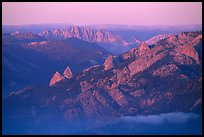 Monarch Divide at sunset. Kings Canyon National Park ( color)