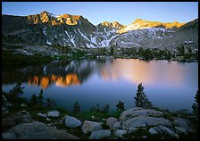 Woods lake, sunset. Kings Canyon National Park, California, USA.