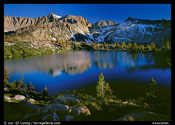 Woods Lake, late afternoon. Kings Canyon National Park (color)