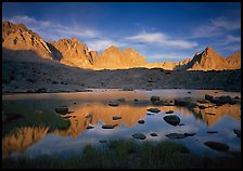Palissades and Isoceles Peak at sunset. Kings Canyon National Park ( color)