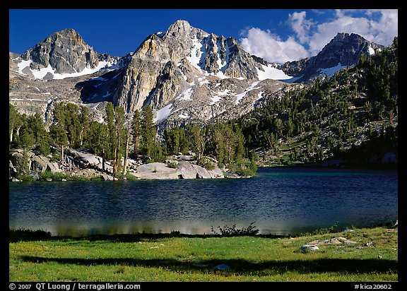 Rae Lake and Painted Lady. Kings Canyon National Park (color)