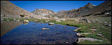 Alpine tarn. Kings Canyon  National Park (Panoramic color)