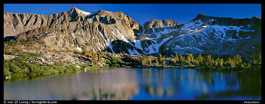 Sierra Mountains and lake in early summer. Kings Canyon National Park (color)