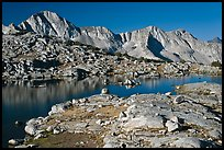 Lake and Mt Giraud range, morning, Dusy Basin. Kings Canyon National Park ( color)