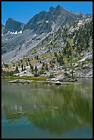 Mt Giraud and lake, Lower Dusy Basin. Kings Canyon National Park ( color)