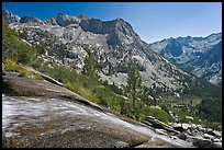 Waterfall plunging towards Le Conte Canyon. Kings Canyon National Park ( color)