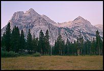 Langille Peak from Big Pete Meadow at dawn, Le Conte Canyon. Kings Canyon National Park ( color)