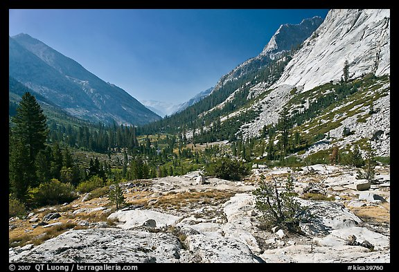 Rocks and meadows, Le Conte Canyon. Kings Canyon National Park (color)