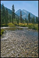 Middle Fork of  Kings River, Le Conte Canyon. Kings Canyon National Park ( color)