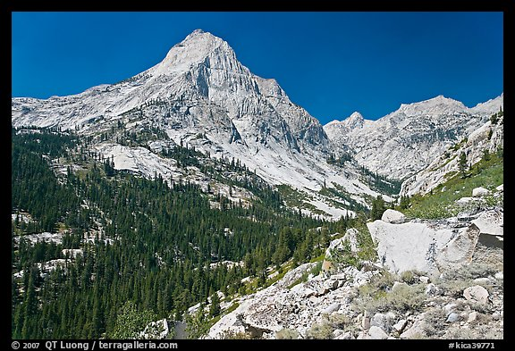 Le Conte Canyon and Langille Peak. Kings Canyon National Park (color)