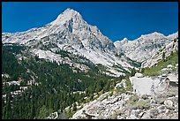 Le Conte Canyon and Langille Peak. Kings Canyon National Park, California, USA.