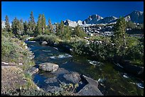 Stream and Mt Giraud chain, Lower Dusy basin. Kings Canyon National Park ( color)