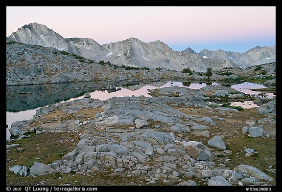 Dusy Basin at dawn. Kings Canyon National Park (color)