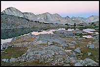 Dusy Basin at dawn. Kings Canyon National Park ( color)